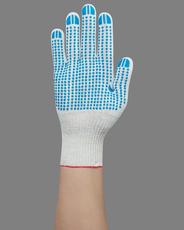 Перчатки с рисунком «точка» из пвх